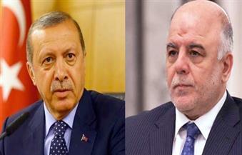 العبادي لأردوغان: لابد من إزالة أسباب التوتر والتجاوز للتركيز على محاربة الإرهاب