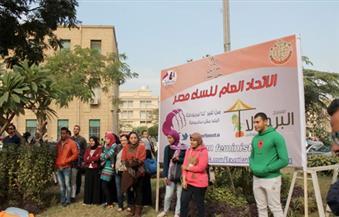 بالصور.. فرقة البرجولا تقدم عرضًا مسرحيًا تفاعليًا لمناهضة العنف ضد النساء بجامعة القاهرة