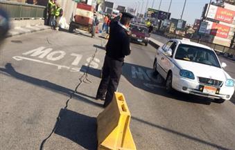 بالصور.. مرور القاهرة: ننصح بعدم استخدام كوبري أكتوبر لحين انتهاء الإصلاحات