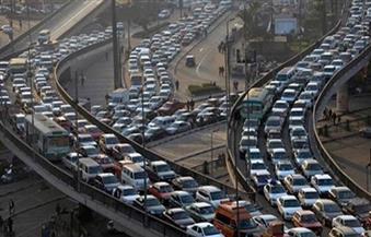 """""""مرور القاهرة"""" تكثف جهودها لتسيير الحركة.. وانتهاء تصليحات الوصلة المعلقة بكوبرى أكتوبر 6 صباحًا"""