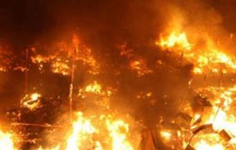 حريق هائل بمستودع بوتاجاز في بني سويف