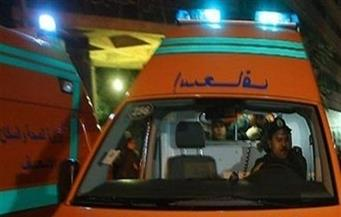 الدفع بـ 14 سيارة إسعاف  لموقع حادث تصادم على الطريق الصحراوى بسوهاج