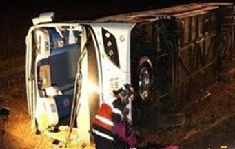 إصابة ٤ أشخاص في انقلاب أتوبيس بطريق مصر السويس