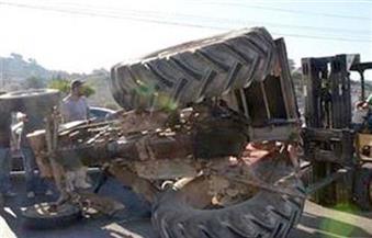 مصرع عاملتين زراعيتين وإصابة 10 أخريات في انقلاب جرار على طريق (طنطا - كفر الشيخ) في الغربية