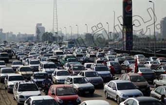 """شلل مرورى بطريق """"القاهرة- الإسكندرية الزراعى"""" بسبب انقلاب سيارة"""