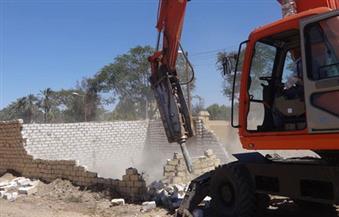 إزالة 20 حالة تعد على منافع النيل بمركز جرجا فى سوهاج