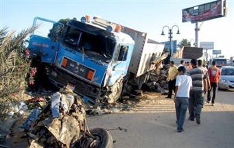 """إصابة 7 مواطنين فى حادث تصادم أمام قرية """"كنج عثمان"""" في مركز كفر الدوار"""