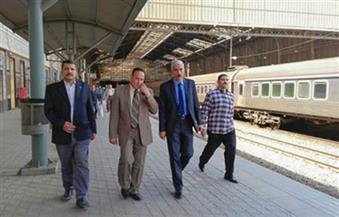 جولة تفقدية لرئيس هيئة السكة الحديد بمنطقة وسط الدلتا