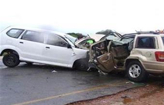 مصرع 4 أشخاص في حادث تصادم بصحراوي المنيا