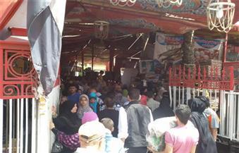 """توزيع 5 أطنان سكر لأهالي ناصر في بني سويف داخل أكشاك """"تحيا مصر"""""""