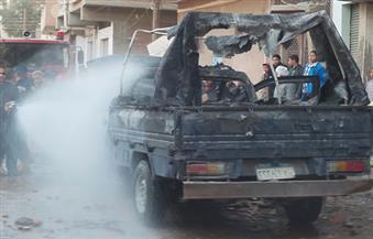 """هجوم إرهابي على سيارة شرطة أعلى """"الدائري"""".. واستشهاد ضابطين وإصابة ٥"""