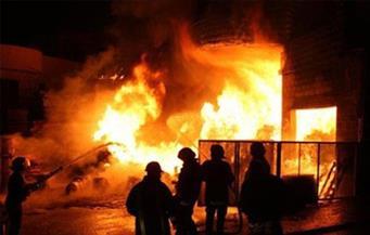 مليونا جنيه خسائر حريق مصنع إعادة تدوير الكرتون بالفيوم