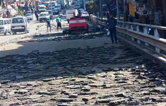 """توسعة الطريق أسفل كوبري """"دار السلام"""" للقضاء على الزحام المروري"""