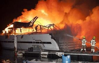 حريق يلتهم يخوت فاخرة بميناء غرب العاصمة الجزائرية