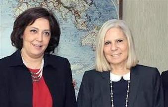 صفاء حجازى تستقبل الأمين المساعد لجامعة الدول العربية