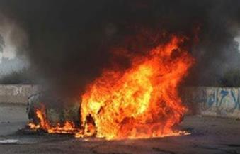 وفاة موظف اشتعلت النيران فى سيارته بالبحيرة