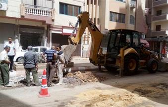 عمليات القاهرة: جارٍ إصلاح ماسورة المياه المكسورة بحلمية الزيتون