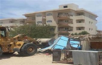 رفع 186 حالة إشغال وإزالة 30 حاجزا خرسانيا بالطريق العام في مدن الغربية