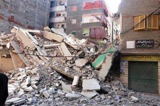 مصرع رجل وإصابة سيدتين في انهيار عقار بحي الجمرك غرب الإسكندرية