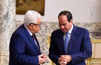 """الرئيس السيسي يجري اتصالا هاتفيا بـ""""أبو مازن"""" للاطمئنان على صحته"""