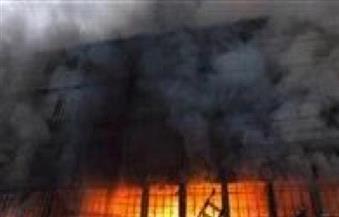 نشوب حريق بالطابق الأرضي بمستشفى جامعة كفرالشيخ