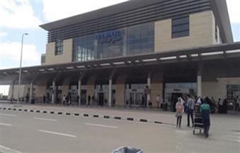 1040 حاجًّا من الإسكندرية ومطروح والبحيرة يغادرون مطار برج العرب للمدينة المنورة