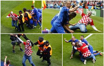 بالفيديو.. خلل أمني آخر في اليورو.. مشجع كرواتي يقتحم الملعب للاحتفال بهدف بلاده في تركيا