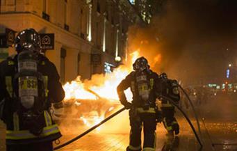 إحراق 3 سيارات في باريس بعد تظاهرة مناهضة للحكومة