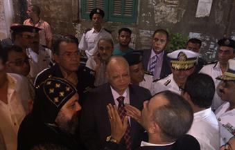مدير أَمن القاهرة يصل كنيسة ماري مينا لتفقد الحالة الأمنية