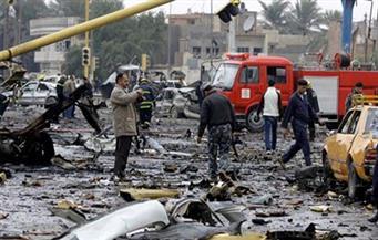 """مقتل واصابة 10 عراقيين في تفجير انتحاري قرب بوابة """"معسكر التاجي"""" شمالي بغداد"""