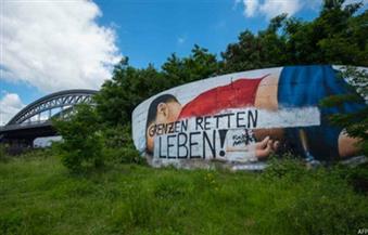 تخريب جدارية تصور الطفل السوري الغريق آلان في ألمانيا