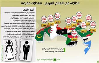 """إنفوجراف..مصر والسودان تتصدران معدلات الطلاق فى المنطقة.. و""""الخُلع"""" و""""الفيس"""" و""""الدراما التركية"""" أهم الأسباب"""