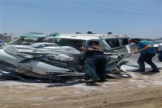 """بينهم طفل 3 أعوام.. إصابة 10 أشخاص في حادث تصادم على طريق """"دكرنس - المنصورة"""" أحدهم في حالة خطرة"""