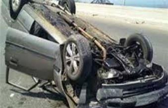 إصابة 4 فى انقلاب سيارة بالزعفرانة