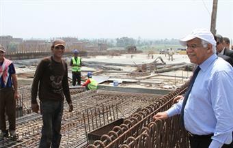 بالصور.. وزير النقل يتفقد أعمال إنشاء الطريق الدائري الإقليمي