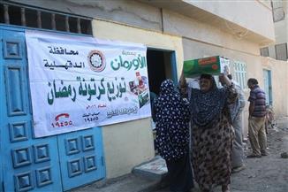 """توزيع ٦ آلاف """"كرتونة"""" مساعادات على المحتاجين بالدقهلية منذ بداية رمضان"""