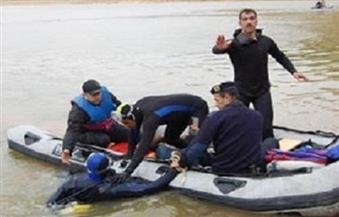 انتشال جثتي طفلين من نهر النيل بالمنيا سقطت بهما سيارة نصف نقل من أعلى معدية