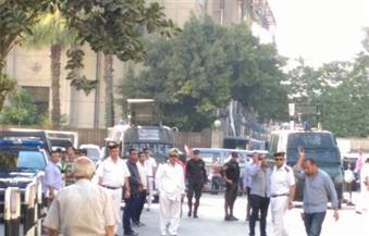 بالصور.. قوات الأمن تُغلق جميع الشوارع المؤدية لنقابة الصحفيين بسبب مظاهرات الطلاب