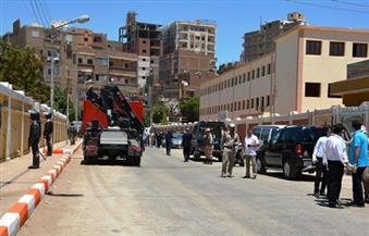 محافظ سوهاج يشهد تجربة انفجار قنبلة أمام إحدى المدارس بمدينة ناصر