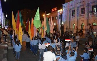 أغان وطنية وفقرات رياضية في احتفال محافظة المنيا بالذكرى الثالثة لثورة 30 يونيو
