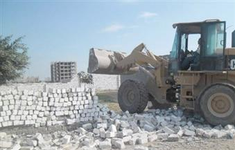 إزالة التعديات الواقعة على الطرق بمدينة دمياط الجديدة