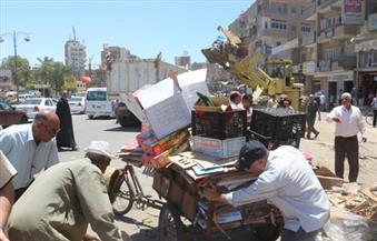 بالصور.. بدء حملة إزالة الإشغالات والتعديات بشوارع السويس