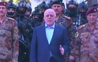 بالفيديو.. العبادي يعلن استعادة قاعدة جوية جنوبي الموصل والتنظيم يفقد ربع أراضيه في العراق وسوريا
