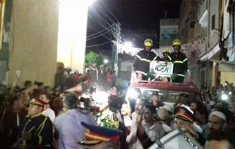 بالصور.. محافظ الغربية ومدير الأمن يشاركان في تشييع جثمان رقيب الشرطة شهيد تفجير العريش