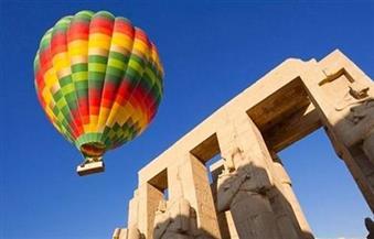 إلغاء رحلات البالون الطائر بالأقصر بسبب موجة الطقس السيئة