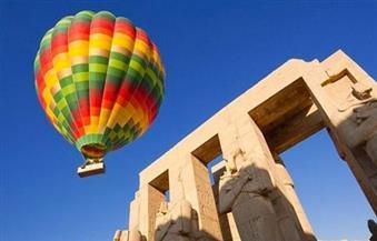"""تحليق 7 رحلات """"بالون طائر"""" بالأقصر أقلت 135 سائحًا من مختلف الجنسيات"""