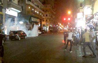 """""""أمن بورسعيد"""" يطلق القنابل المسيلة للدموع لتفريق مسيرة جماهير المصرى المنددة بمحاكمة حسام حسن"""