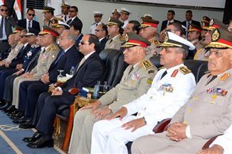"""ننشر  تفاصيل  الاحتفال بتخريج دفعتين جديدتين من """"البحرية والدفاع الجوي"""" بحضور الرئيس السيسي"""