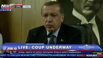 حاولوا قتلى ولن أغادر تركيا.. أردوغان يناشد قادة الجيش دعمه فى مواجهة الانقلابيين
