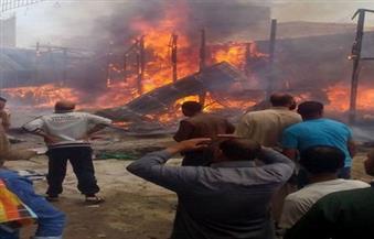 اندلاع حريق هائل بمخزن أجهزة كهربائية بالمنيا